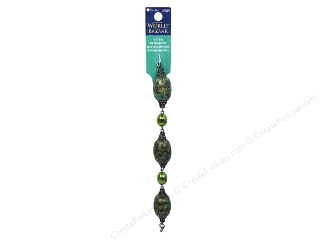 Blue Moon Beads World Bazaar Strand 7 in. Nugget 1 pc. Black Nickel