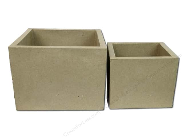 Paper Mache Set Open Box Set Rectangle 2 pc. by Craft Pedlers