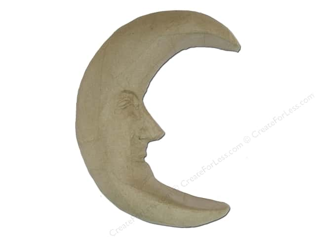 Paper Mache Moon with Face 10 x 12 in. by Craft Pedlers