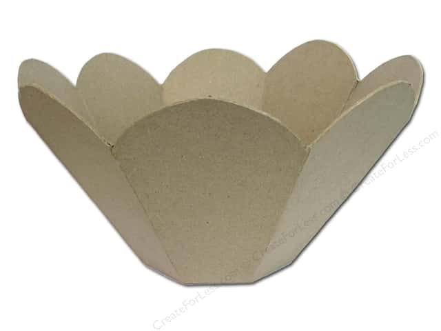 Paper Mache Bowl Scallop Hexagon by Craft Pedlers