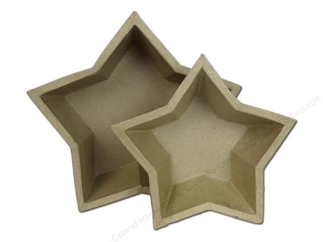 Paper Mache Star Tray Set of 2 by Craft Pedlars