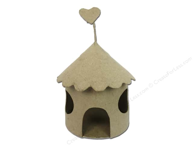 Paper Mache Fairy House Round Window by Craft Pedlers
