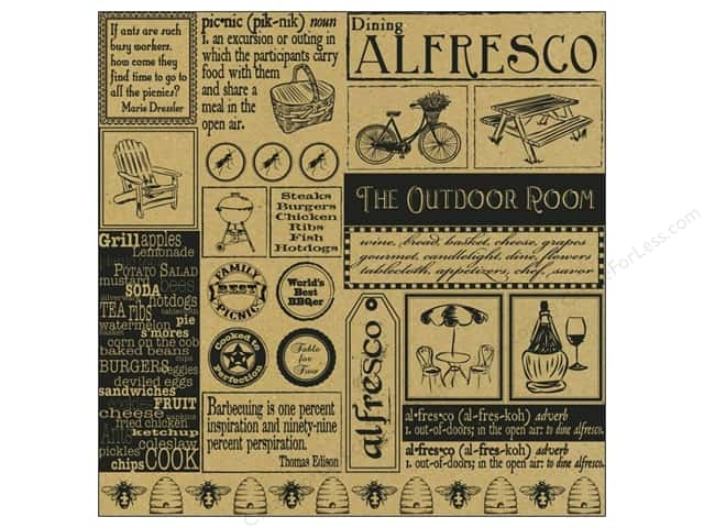 Canvas Corp 12 x 12 in. Paper Alfresco Sampler On Kraft (15 pieces)