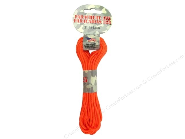 Pepperell 325 Parachute Cord 21 ft. Neon Orange