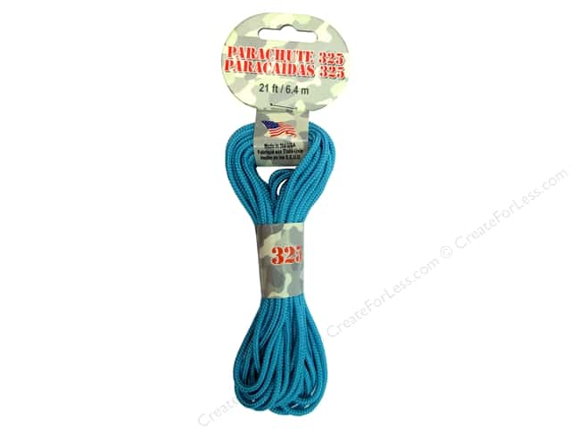 Pepperell 325 Parachute Cord 21 ft. Turquoise