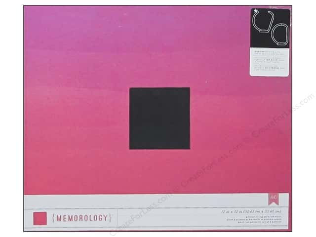 American Crafts 3-Ring Album 12 x 12 in. Pink Ombre