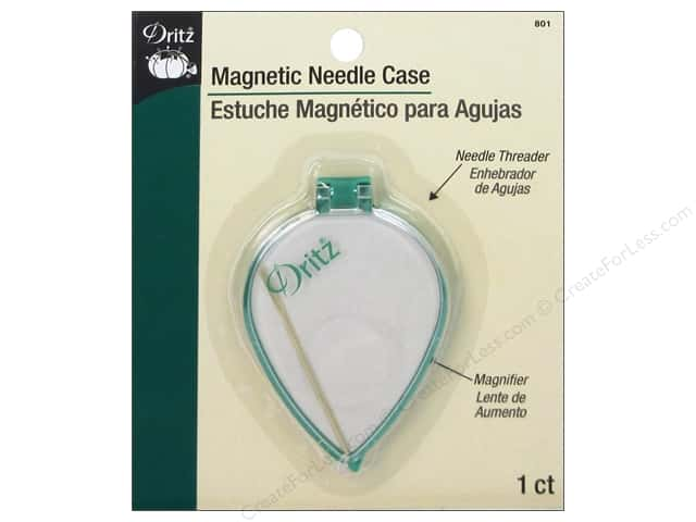 Dritz Magnetic Needle Case With Magnifier & Threader