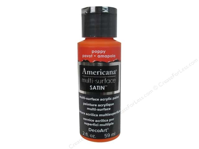 DecoArt Americana Multi-Surface Satin 2 oz. #511 Poppy