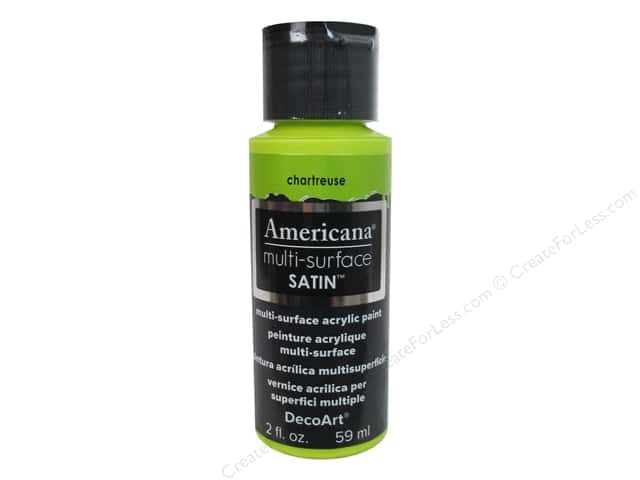 DecoArt Americana Multi-Surface Satin 2 oz. #523 Chartreuse