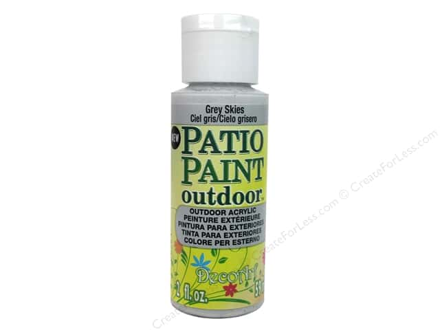 DecoArt Patio Paint Outdoor Acrylic Paint 2 oz. #78 Grey Skies