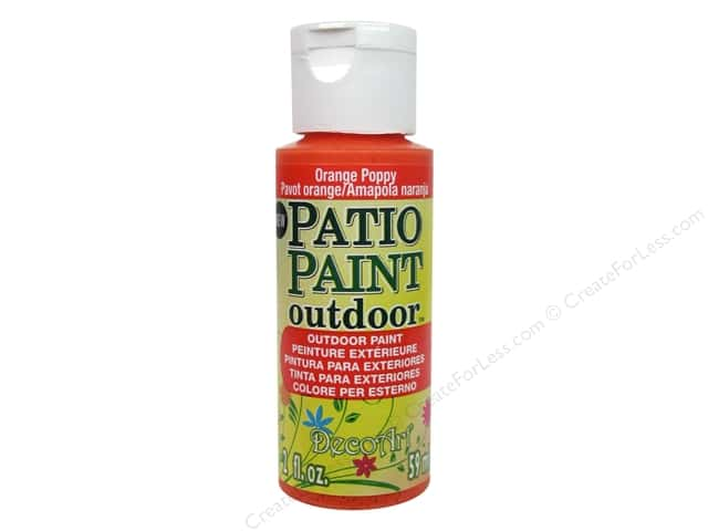 DecoArt Patio Paint 2oz Orange Poppy