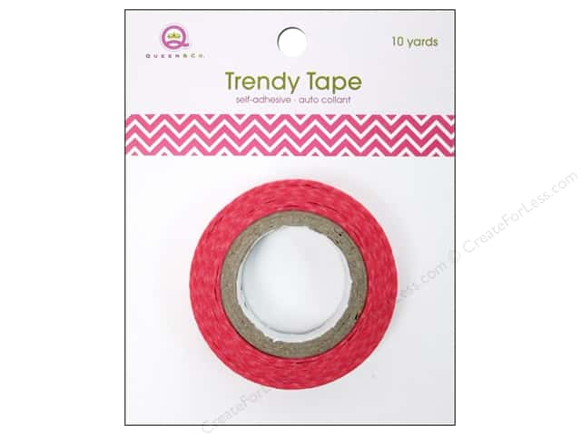 Queen&Co Trendy Tape 10yd Skinny Minnie Chevron Pink