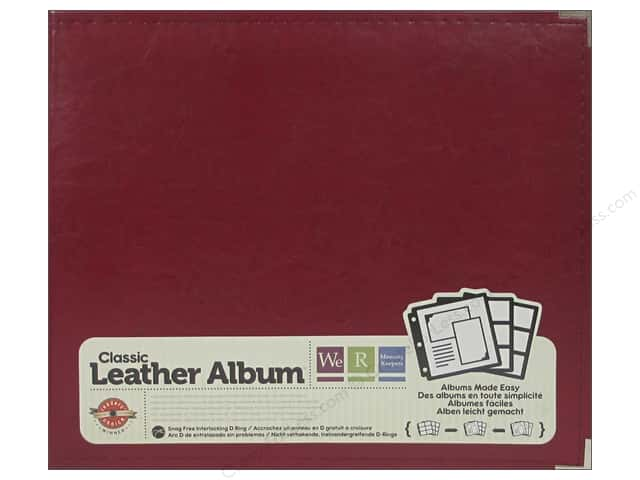 "We R Memory Album 12""x 12"" Leather Ring Wine"