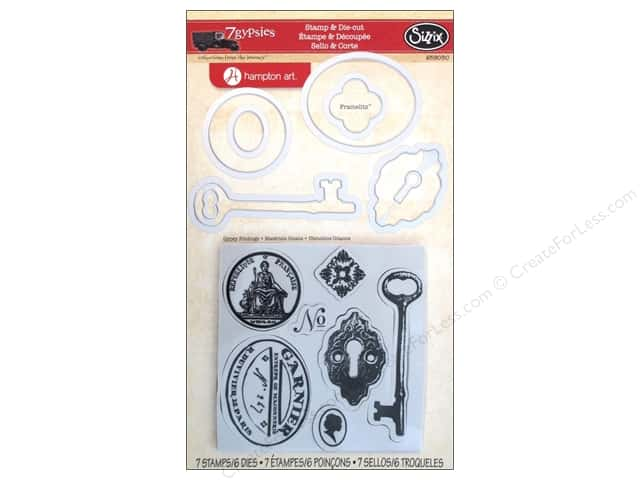 Sizzix Framelits Die Set 6 PK w/Stamps Gypsy Findings by 7 Gypsies