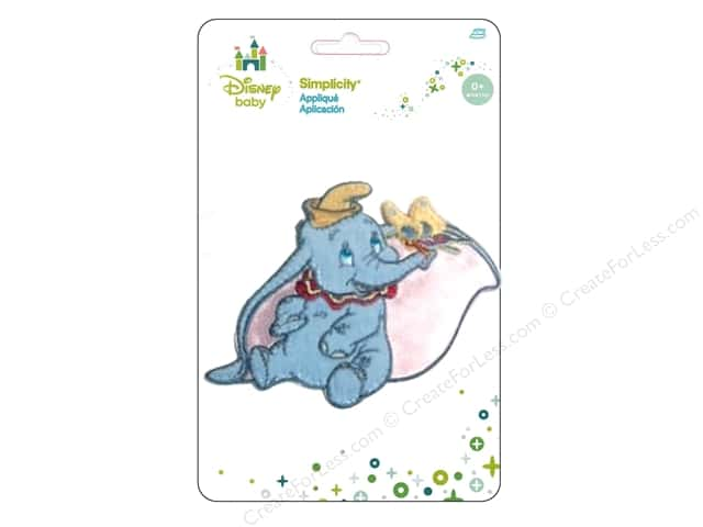 Simplicity Appliques Disney Baby Iron On Dumbo Butterfly