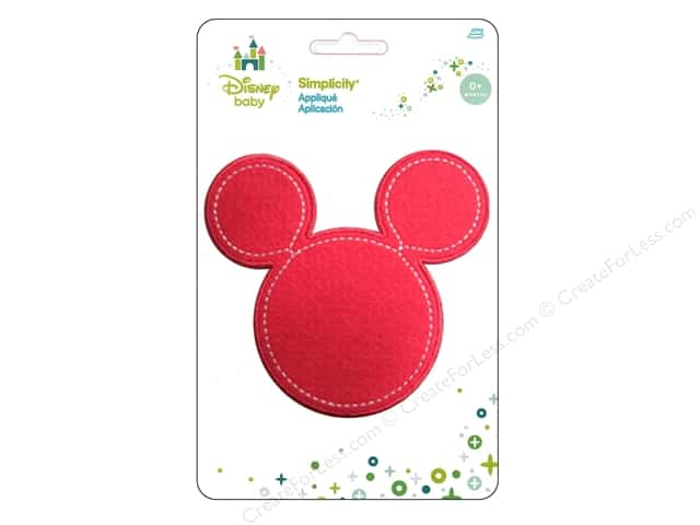 Simplicity Appliques Disney Baby Iron On Minnie Head