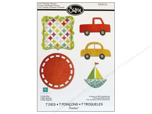 Sizzix Thinlits Die Set 7PK Little Boy by Echo Park Paper