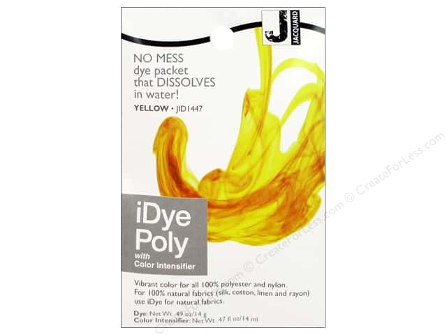 Jacquard iDye Poly Fabrics 14gm Yellow