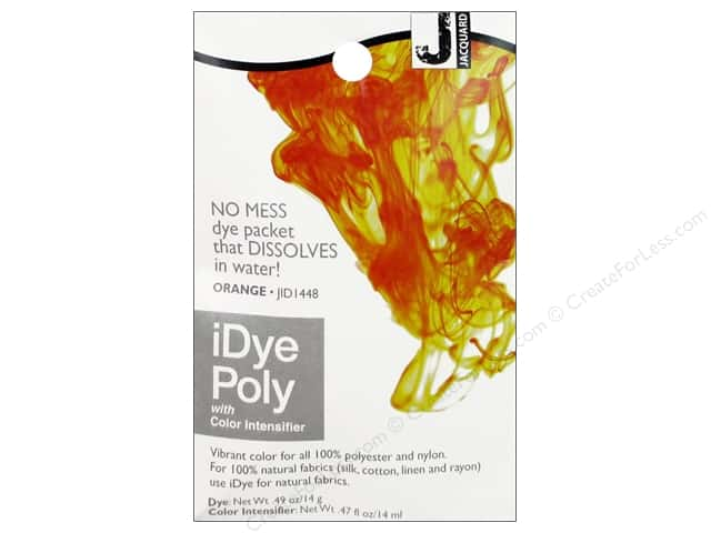 Jacquard iDye Poly Fabrics 14gm Orange