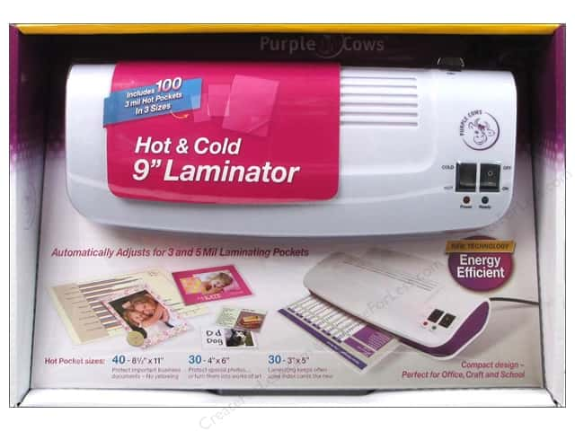 Purple Cows 9 in. Hot and Cold Laminator