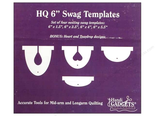 Handi Quilter Swag Templates 6 in. 4 pc.