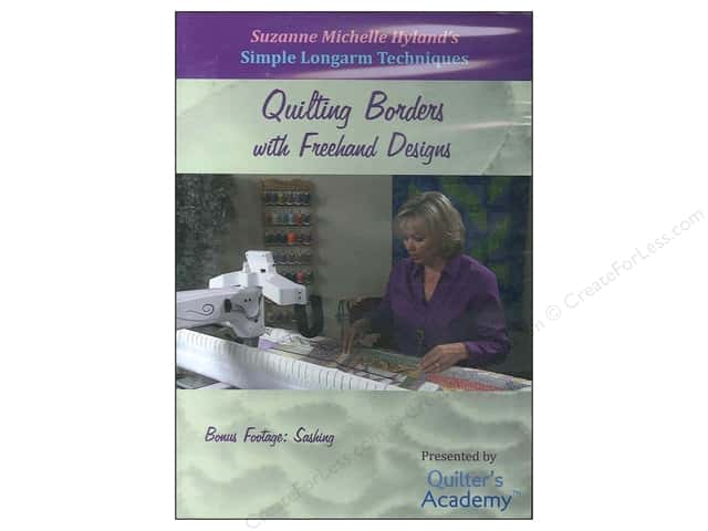 Handi Quilter Simple Longarm Techniques: #2 Quilting Borders with Freehand Designs DVD with Suzanne Michelle Hyland