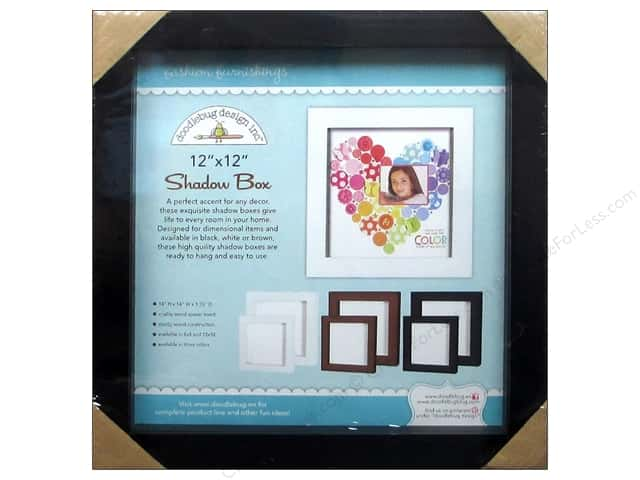 Doodlebug Shadow Box 12 x 12 in. Black