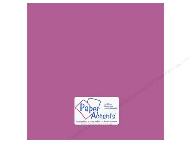 Cardstock 12 x 12 in. #8849 Fluorescent Neon Purple by Paper Accents (25 sheets)