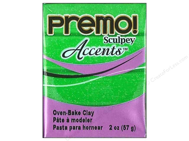 Premo! Sculpey Polymer Clay 2 oz. Green Glitter