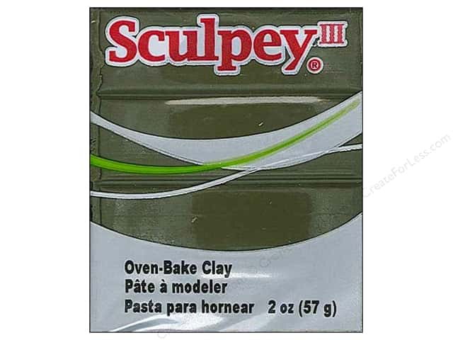 Sculpey III Clay 2 oz. Camouflage