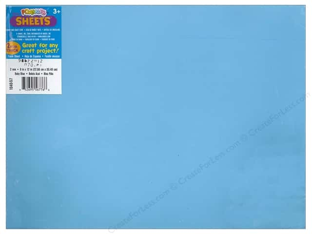 Foamies Foam Sheet 2mm 9 x 12 in. Baby Blue (6 sheets)