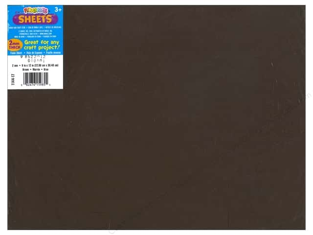 Foamies Foam Sheet 9 x 12 in. 2 mm. Brown (10 sheets)