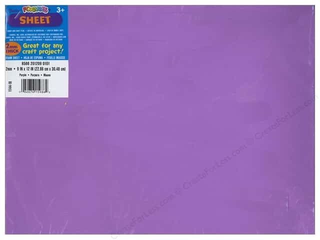 Foamies Foam Sheet 9 x 12 in. 2 mm. Purple (10 sheets)