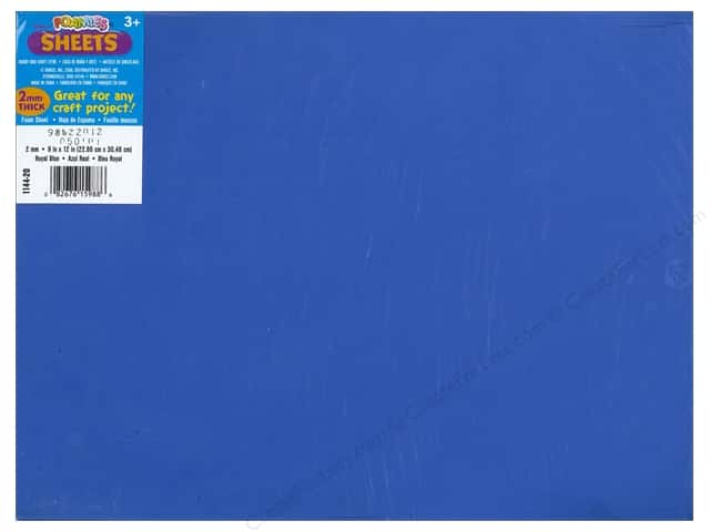 Foamies Foam Sheet 2mm 9 x 12 in. Royal Blue (10 sheets)