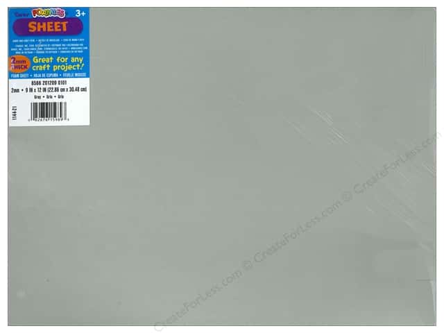 Foamies Foam Sheet 2mm 9 x 12 in. Grey (10 sheets)