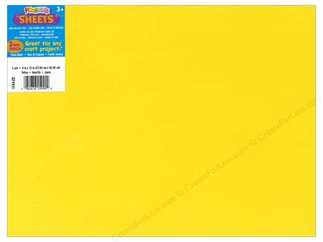 Foamies Foam Sheet 9 x 12 in. 2 mm. Yellow (10 sheets)