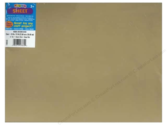 Foamies Foam Sheet 2mm 9 x 12 in. Light Tan (10 sheets)