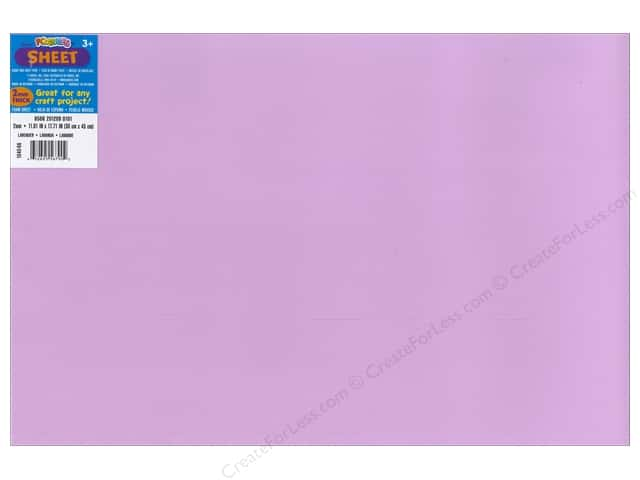 Foamies Foam Sheet 2mm 12 x 18 in. Lavender (10 sheets)
