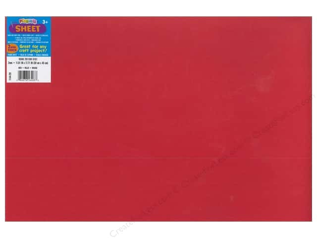 Foamies Foam Sheet 12 x 18 in. 2 mm. Red (10 sheets)