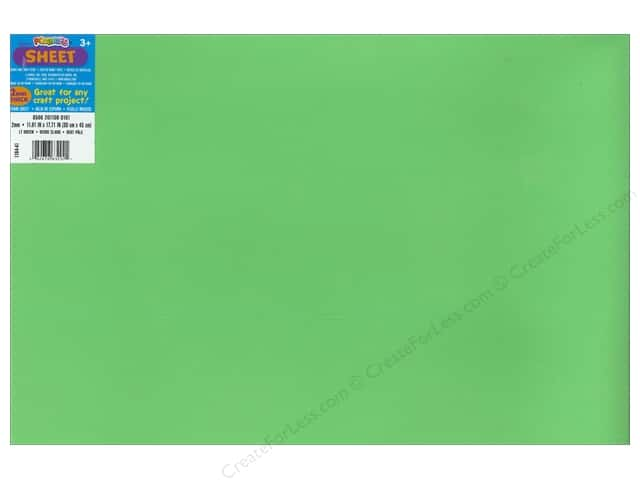 Foamies Foam Sheet 2mm 12 x 18 in. Light Green (10 sheets)