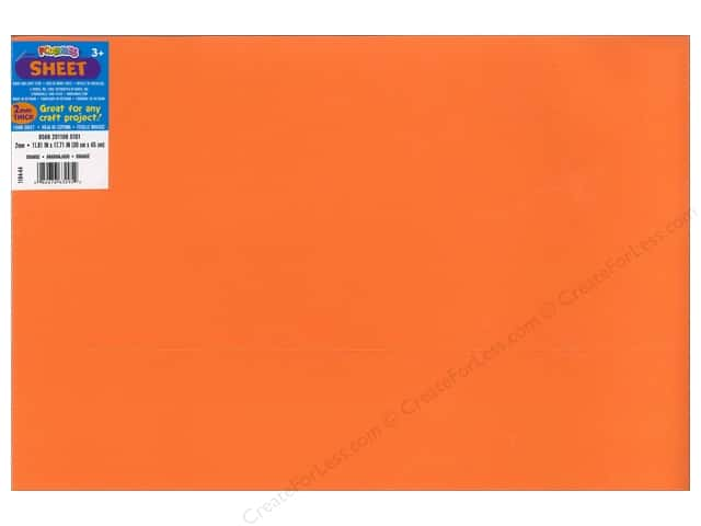 Foamies Foam Sheet 2mm 12 x 18 in. Orange (10 sheets)