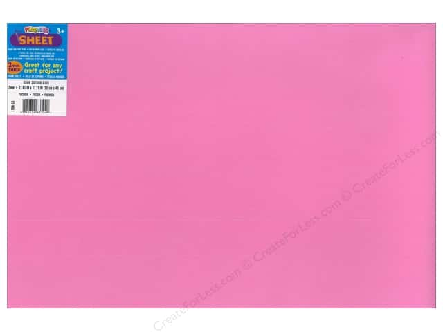 Foamies Foam Sheet 12 x 18 in. 2 mm. Fuchsia (10 sheets)