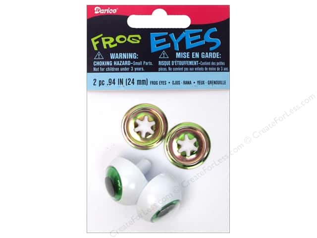 Darice Frog Eyes with Metal Washers 24 mm Green 2 pc. (3 packages)