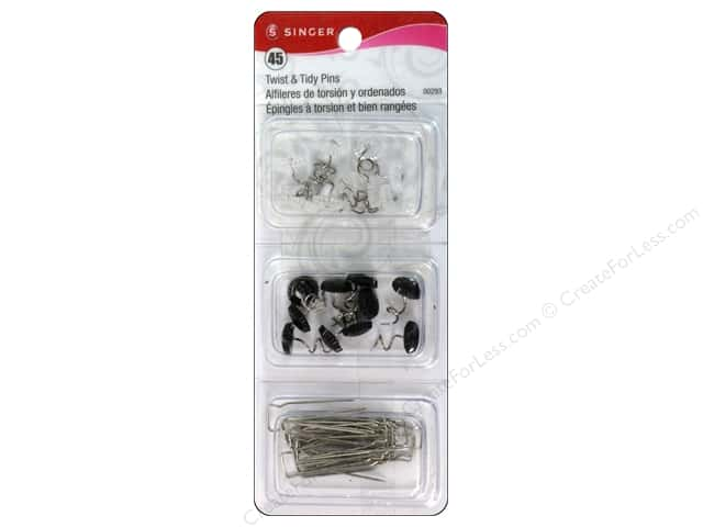 Singer Twist & Tidy Pins 45 pc.