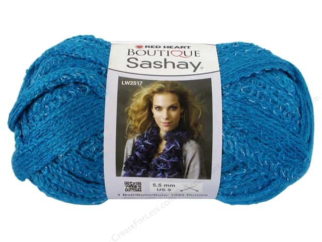 Red Heart Boutique Sashay Yarn 3.5 oz. Turquoise