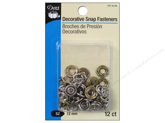 Decorative Snap Fasteners by Dritz 1/2 in. Nickel 12 pc.