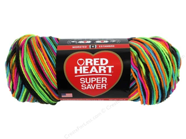 Red Heart Super Saver Yarn #3939 Blacklight 244 yd.