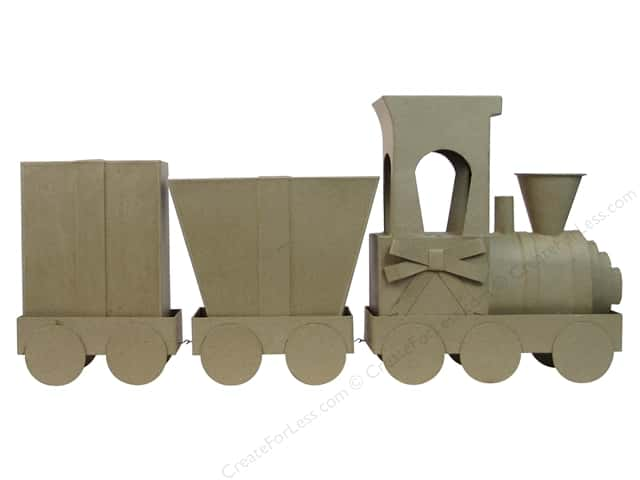Paper Mache Train Set With Gift Boxes by Craft Pedlers
