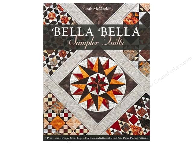 C&T Publishing Bella Bella Sampler Quilts Book by Norah McMeeking