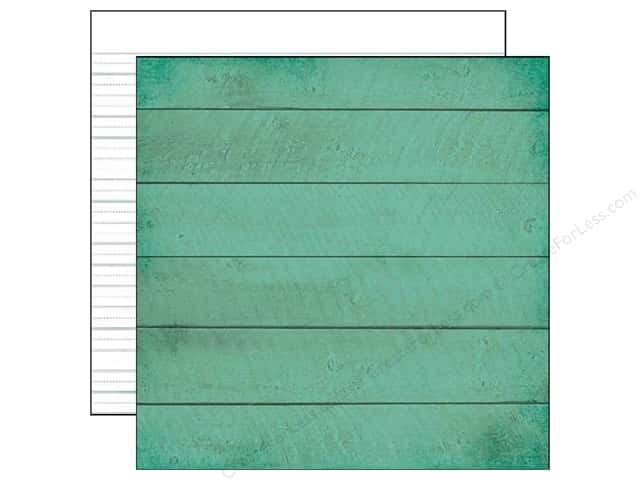 "Simple Stories Paper 12""x 12"" I Heart Summer Boardwalk Teal (25 pieces)"
